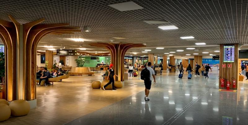 Interior do aeroporto de Salvador