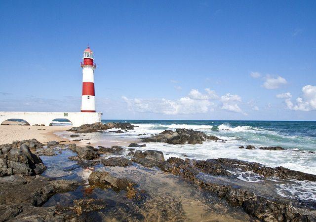 Mapa turístico de Salvador na Bahia