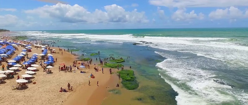 Praia de Stella Maris na Bahia