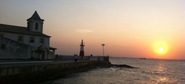 Pôr do sol na Ponta do Humaitá