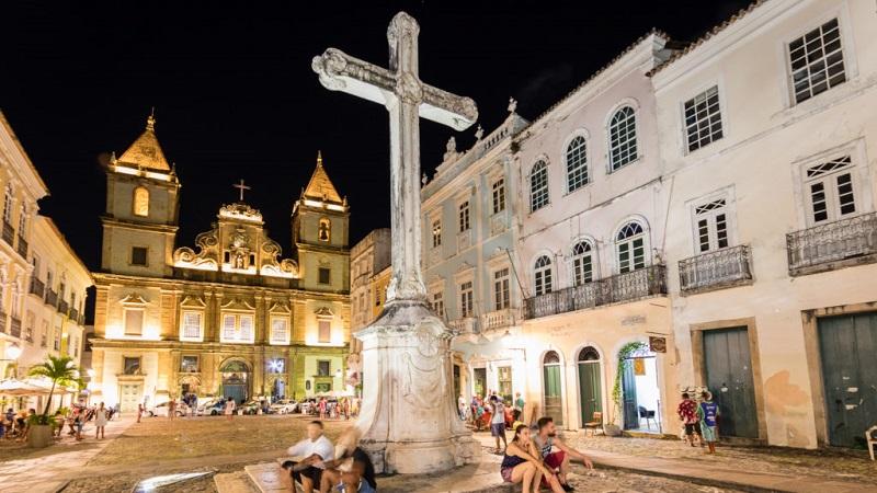 Noite no Pelourinho em Salvador
